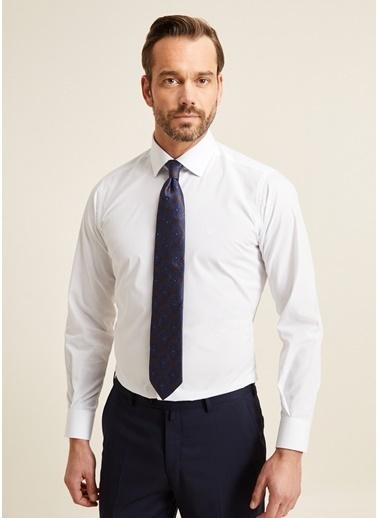 Bisse GM20K22950 Regular Fit Kolay Ütülenebilir Düz Klasik Gömlek Beyaz